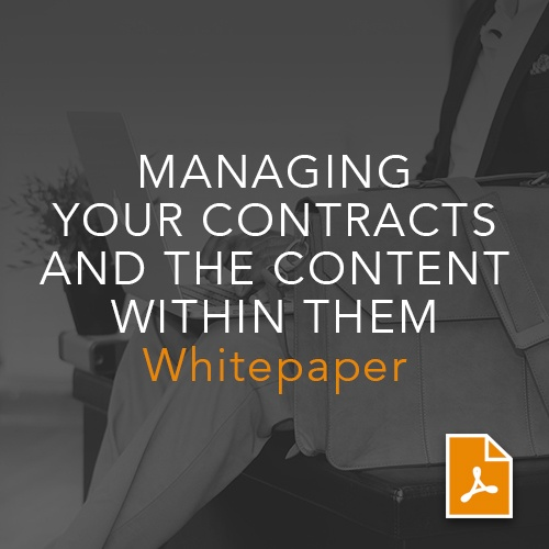 Managing Your Contracts and the Content within Them