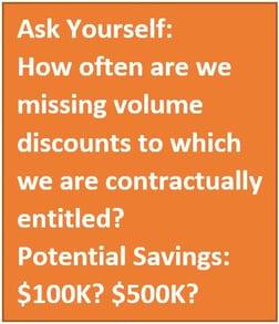missing volume discounts