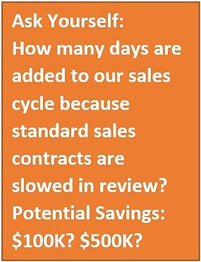 potential savings from delayed sales contracts
