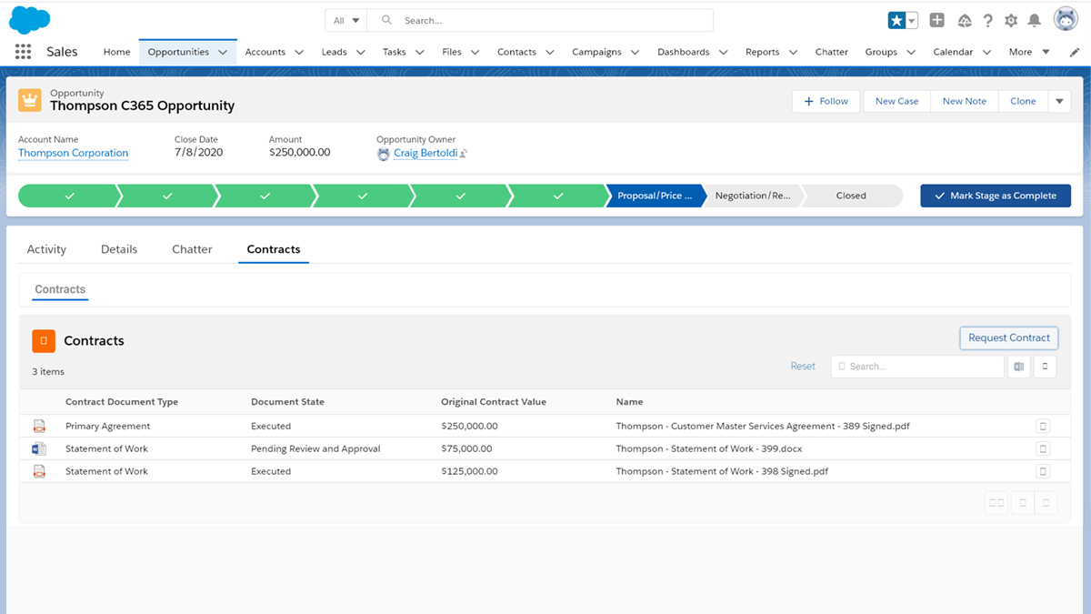 Contract Management for Salesforce