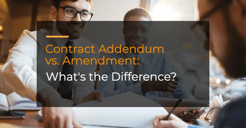 Addendum vs. Amendment: What's the Difference?