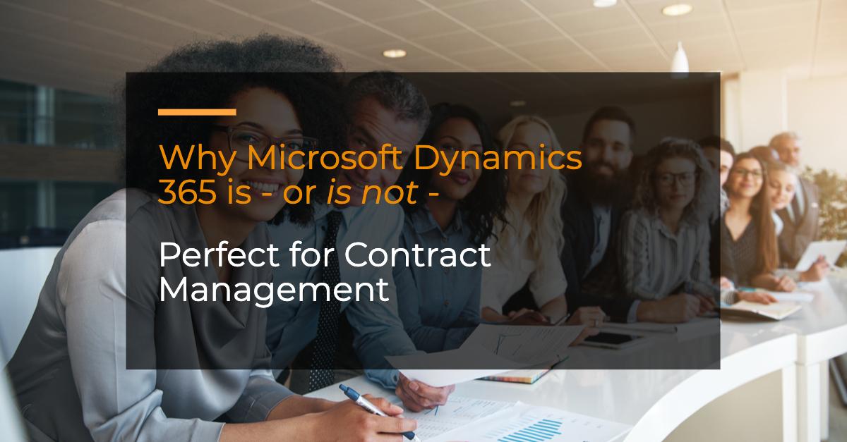 Microsoft dynamics 365 enterprise contract management